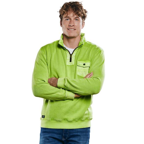 Sweatshirt in frischer Farbe