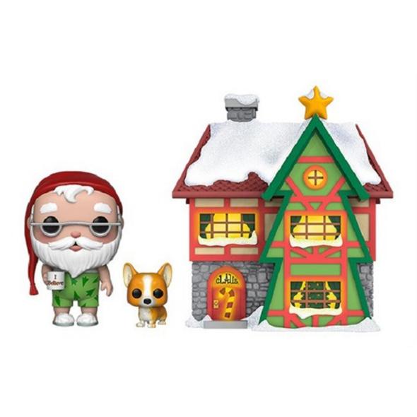 Holiday - POP!-Vinyl Figur Santa mit Haus und Nutmeg