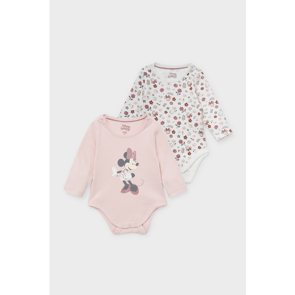 Multipack 2er - Minnie Maus - Baby-Body - Bio-Baumwolle